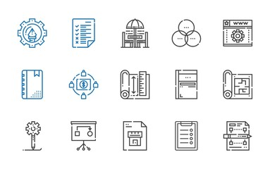 project icons set