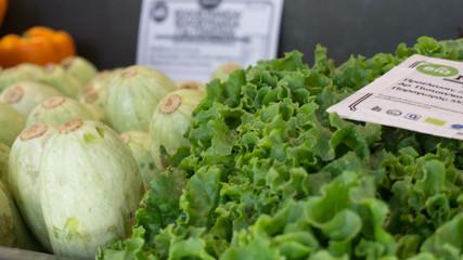 lettuce at a greek market in Thessaloniki