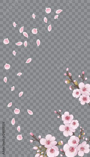 Handmade Background In Oriental Style Spring Frame Vertical Of