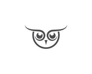 Wall Murals Owls cartoon Owl logo vector