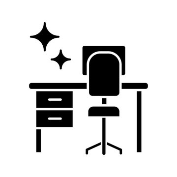 Cleaning table desk glyph icon