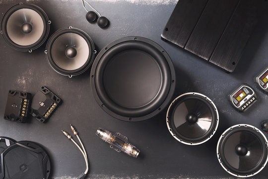 car audio, car speakers, subwoofer and accessories for tuning.