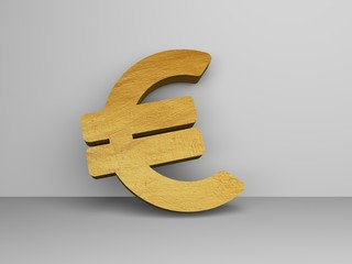 EURO SIGN, 3D ILLUSTRATION
