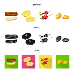 Fototapete - Vector illustration of food  and raw  icon. Set of food  and nature   vector icon for stock.