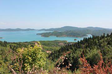 Artificial Lake Plastira of Karditsa central Greece Europe