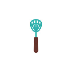 Insects swatter flat icon, vector sign, colorful pictogram isolated on white. Fly swatter symbol, logo illustration. Flat style design