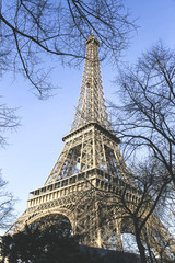Eiffel Tower in Paris, France. Postcard of Paris