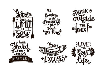 Vector Chalkboard phrase handwriting calligraphy. Black and white engraved ink art. Isolated quotes illustration.