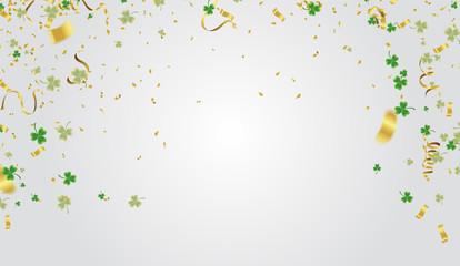 Vector illustration Design banner on St. Patrick's Day. effect clover. Simple banner for the site, shop,
