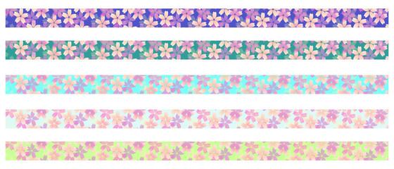 桜の飾り罫線(ライン) 02