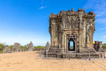 ancient reamains of Phnom Bakheng temple, Angkor, Siem Reap, Cambodia, Asia