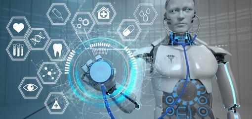 Screening durch künstliche Intelligenz KI Robotik