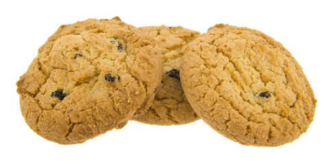 raisin cookies isolated on white background