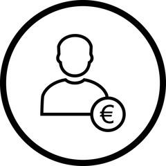 Vector Euro with Man Icon