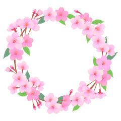 桜のリースフレーム03
