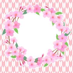 桜のリースフレーム02