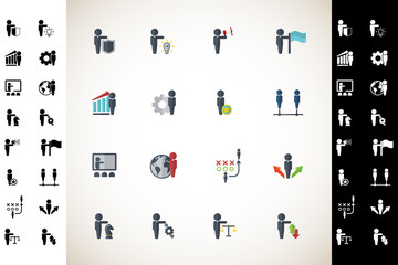Business icon set. Vector