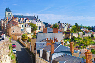 View on a small town of Thouars