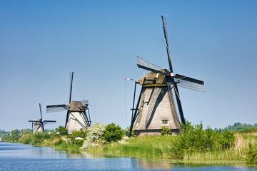 Windmills, Kinderdijk, The Netherlands, Europe