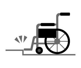 車椅子と段差