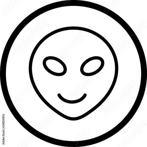 Vector Alien Emoji Icon
