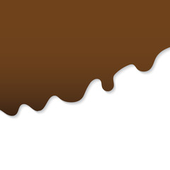 chocolate sweet drips- vector illustration