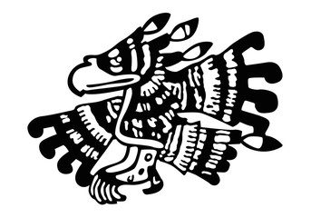 maya ornament. vector image for logo or illustrations