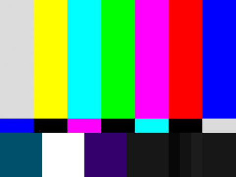 No signal / Test Pattern for Wide Screen TV