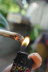 allumer la cigarette
