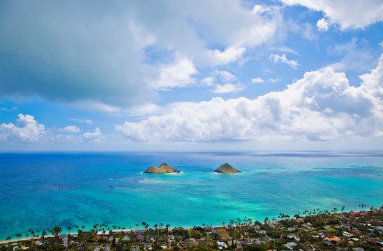View of the Mokulua Islands