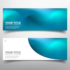 abstract banner set with full color design