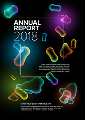 Vector annual report cover template