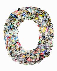 newspaper letter O