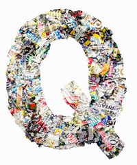newspaper letter Q