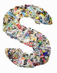 newspaper letter S