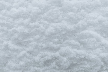 background of snow close-up