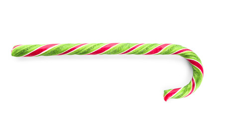 Sweet candy cane on white background