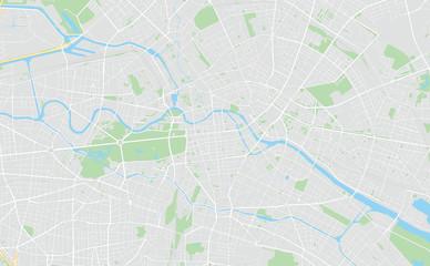 Berlin, Germany, printable map