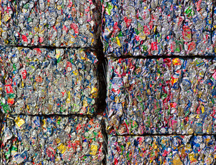 Bales of Aluminum Cans