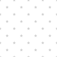 white background with grey stars seamless pattern vector