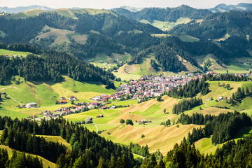 Eschholzmatt, a village in the Entlebuch, Unesco World Heritage Site, in the canton Lucerne, Switzerland, Europe