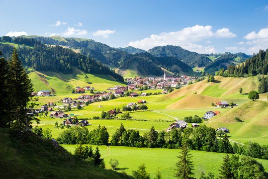 Eschholzmatt, a village in the Entlebuch UNESCO in the canton of Lucerne, Switzerland, Europe