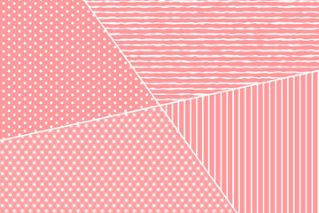 Pink decorated background for Valentines, Wedding, Mother Day Greeting Card