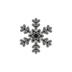 Snowflake icon. Christmas and winter theme. Simple flat illustration