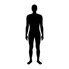 Vector man silhouette