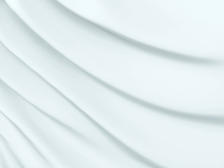 In de dag Abstract wave Beautiful White Satin Fabric for Drapery Abstract Background. Silk Fabric.