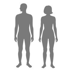 woman and man silhouette