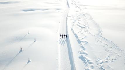 Wanderer im Schnee
