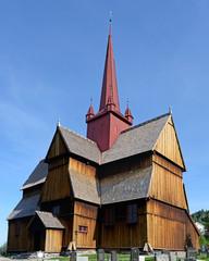 Die Stabkirche im norwegischen Ringebu