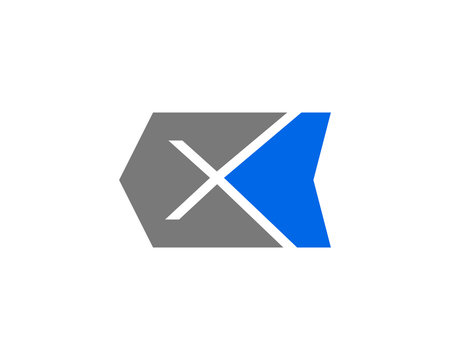 Initial letter X logo template design
